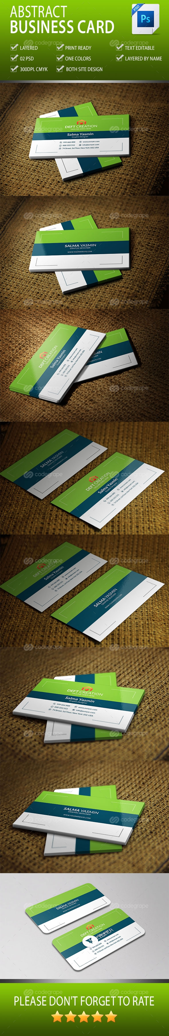 Abstract Business Card Vol-2.0