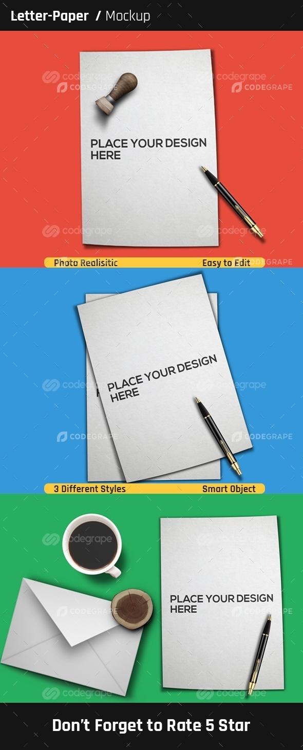 Letter / Paper Mock-Ups