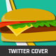 Flat Burger Shop Twitter Cover