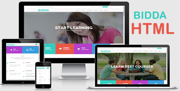 Bidda - HTML Education Theme
