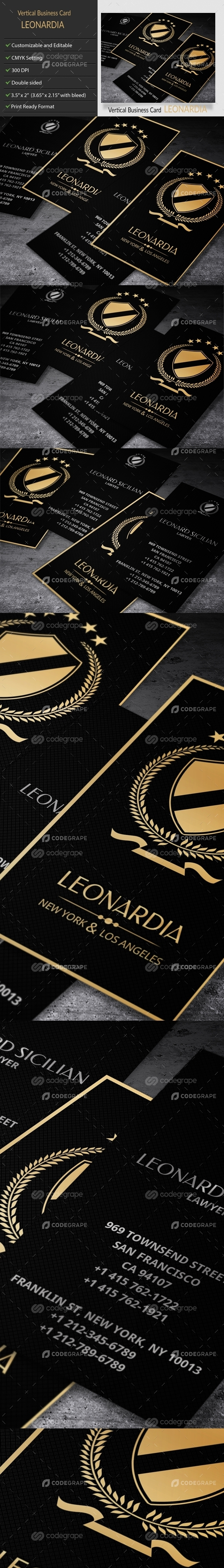 Elegant Vertical Business Card - Lawyer