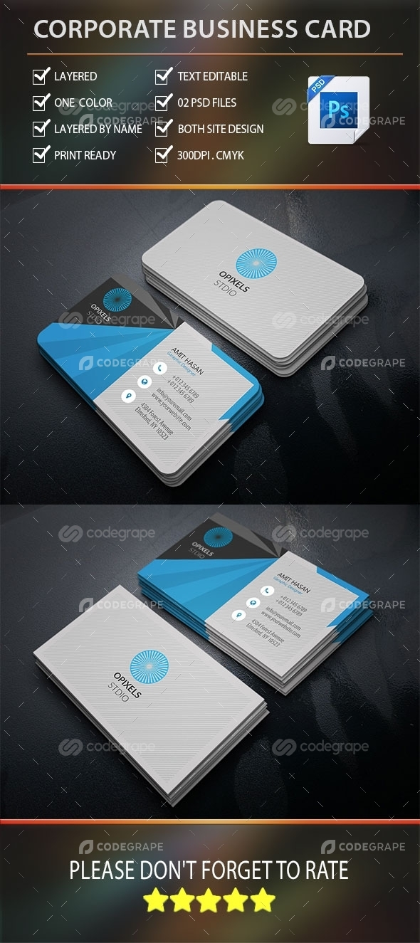 Creative Corporate Business Card Vol-1.0