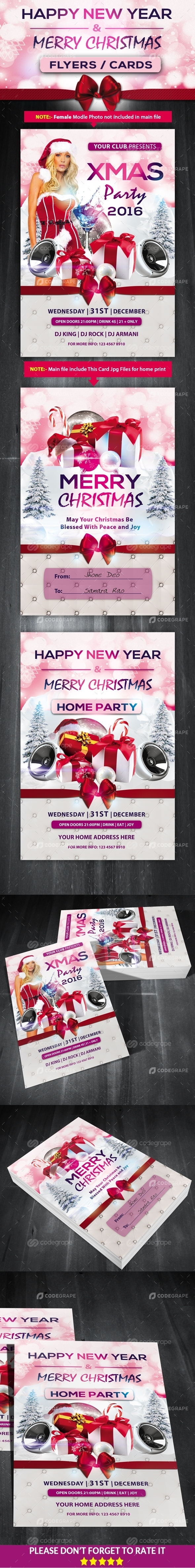 Christmas / New Year Party Flyers
