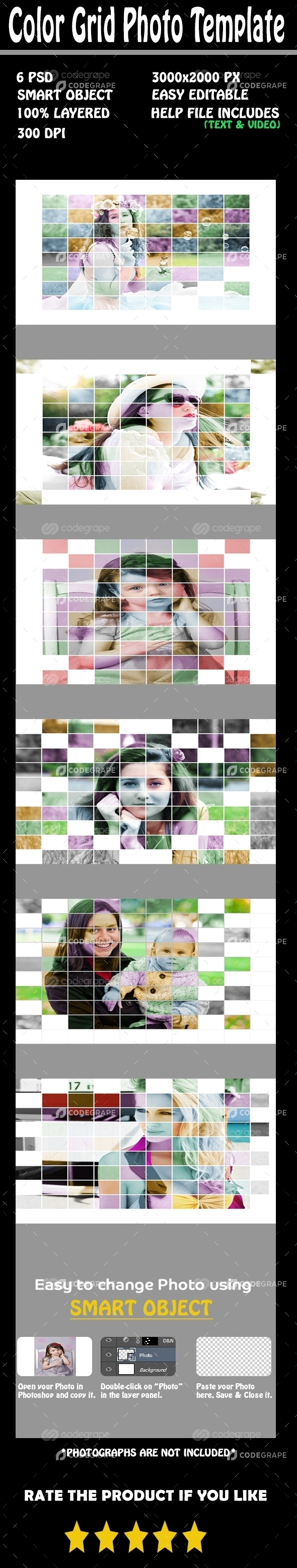 Color Grid Photo Template