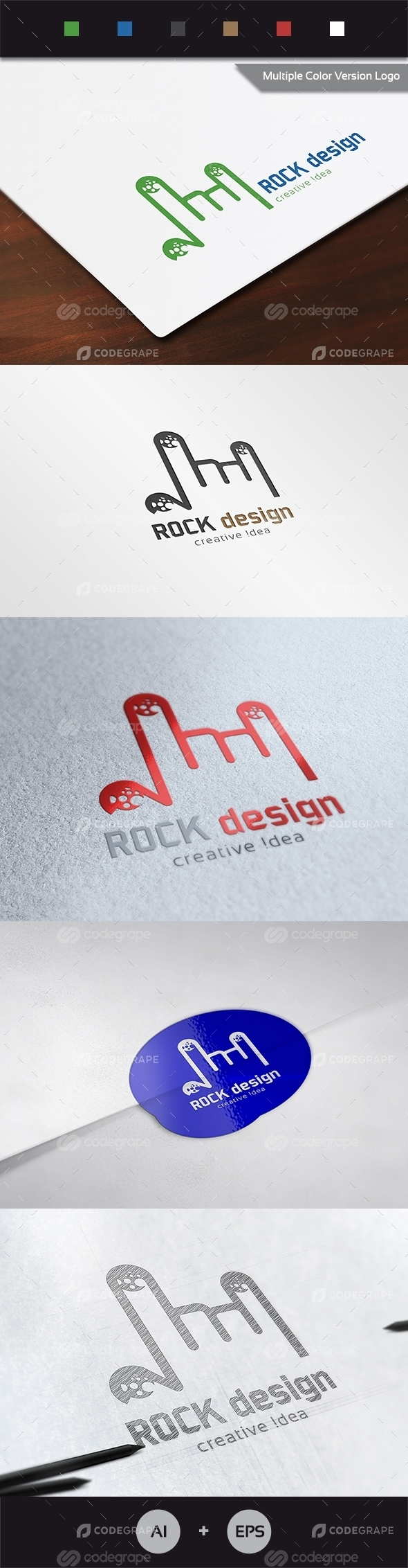 Rock Design Logo