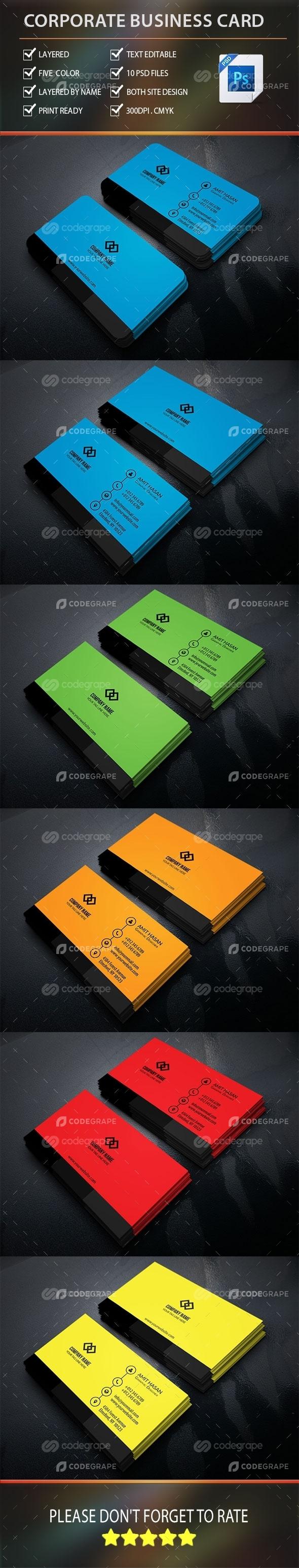 Creative Corporate Business Card vol : 4.0
