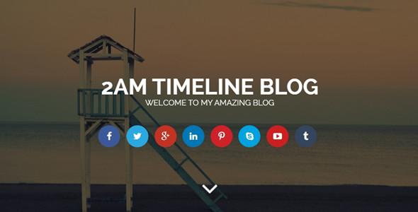 2AM Timeline HTML Blog Template