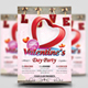 Valentine's Day Party Flyer + Invitation Card