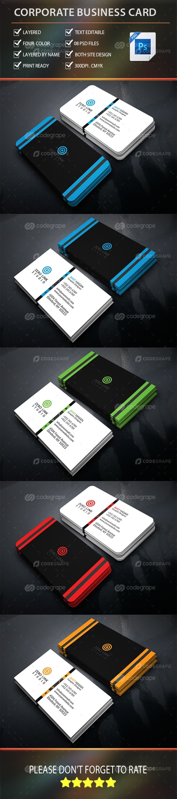 Corporate Business Card Vol-8.0