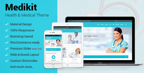 Medikit - Health & Medical WordPress Theme