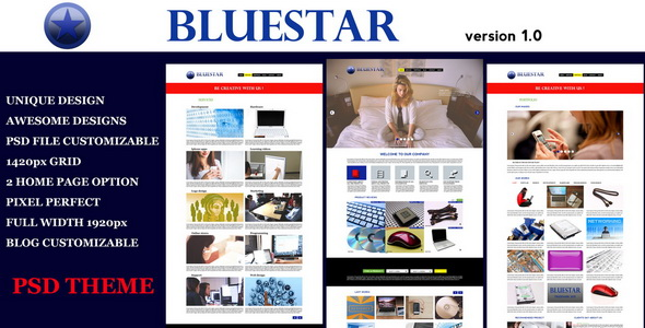 Bluestar Modern PSD Template