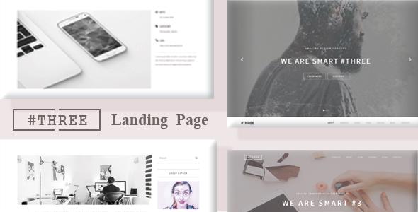 Hash Three -  Multipurpose Landing Page