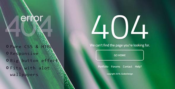 404 Error - Beautiful & Minimalistic