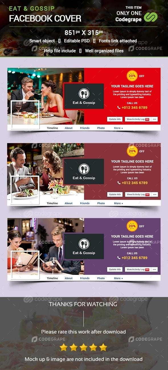 Eat & Gossip Facebook Cover