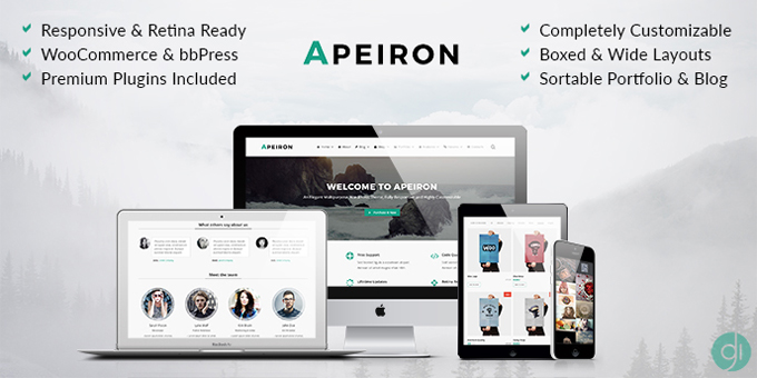 Apeiron - Responsive Multi-Purpose WordPress Theme