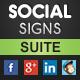 Social Media QR Code & Image Poster Signs