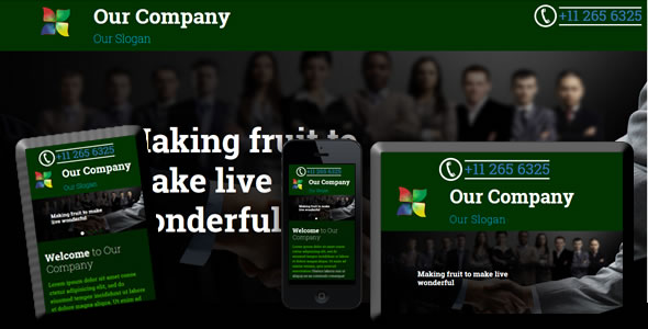 Responsive Single Page Web Site Template