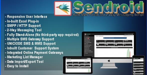Sendroid - Bulk SMS Portal & 2-Way Messaging Script