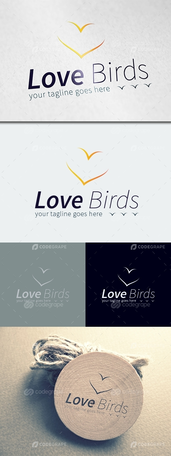 Love Birds Logo Template