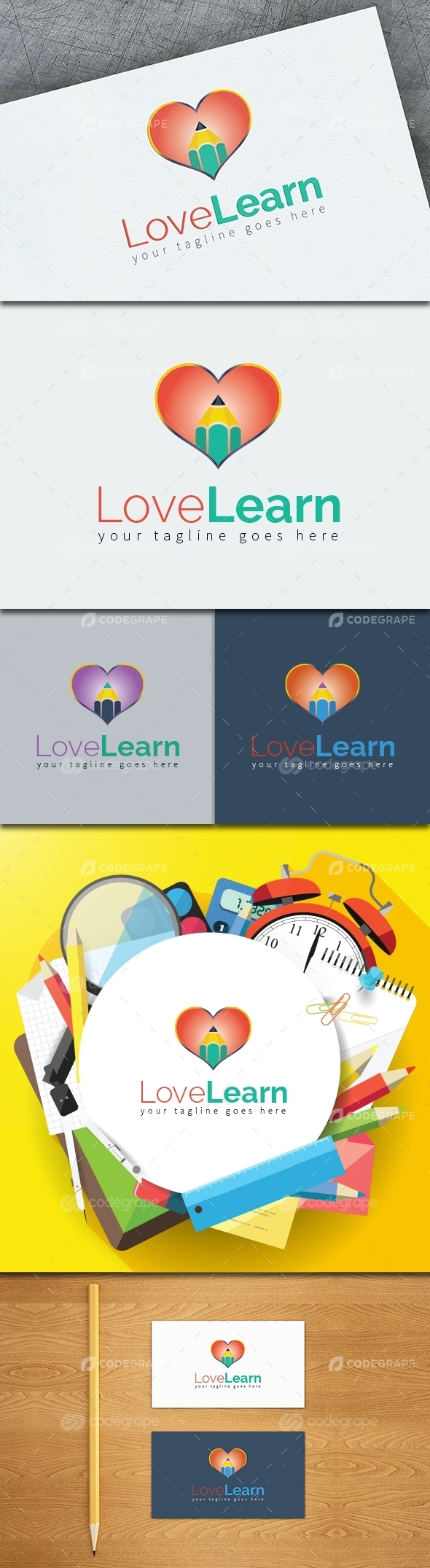 Love Learn Logo Template