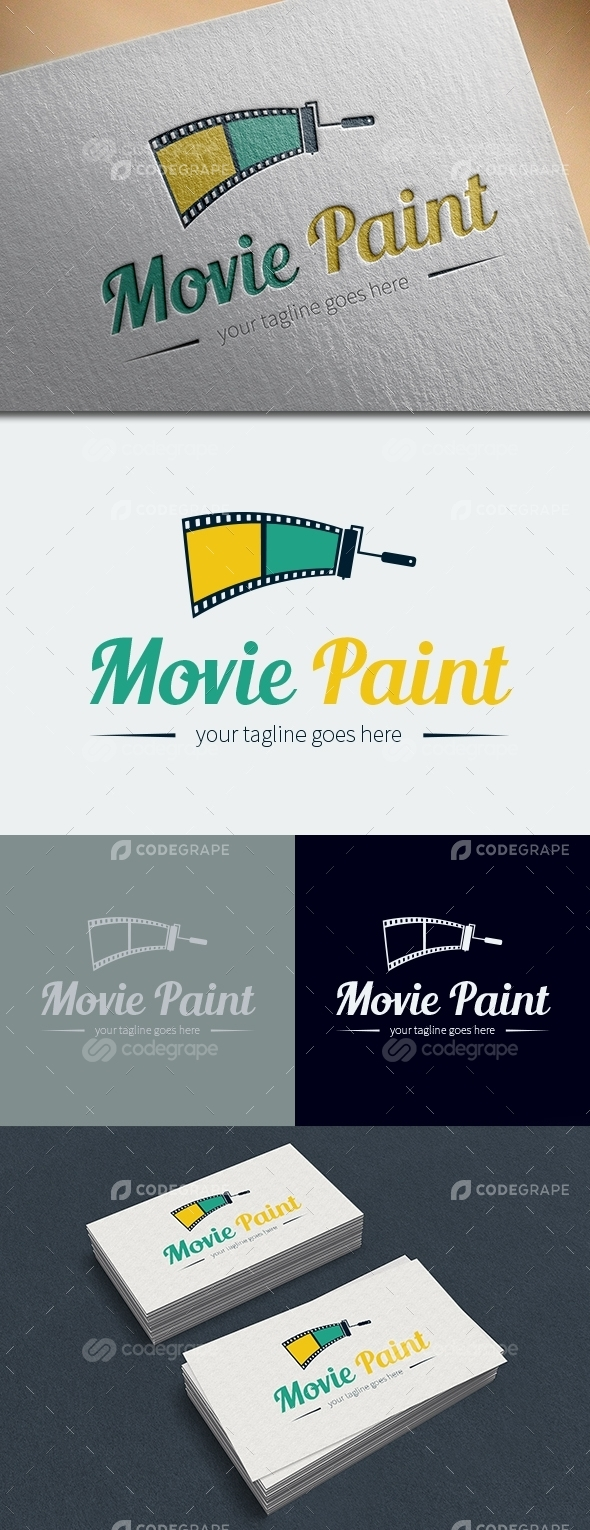 Movie Paint Logo Template