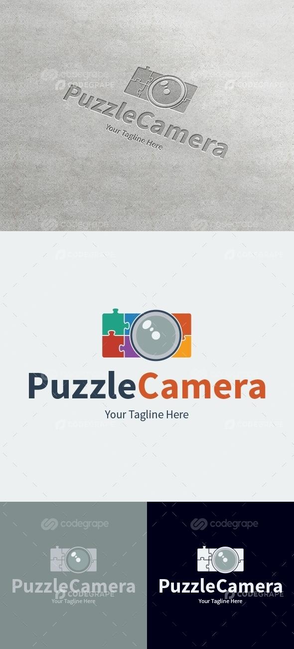 Puzzle Camera Logo Template