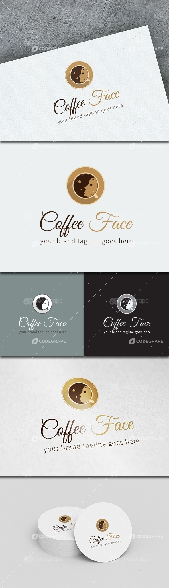 Coffee Face Logo Template
