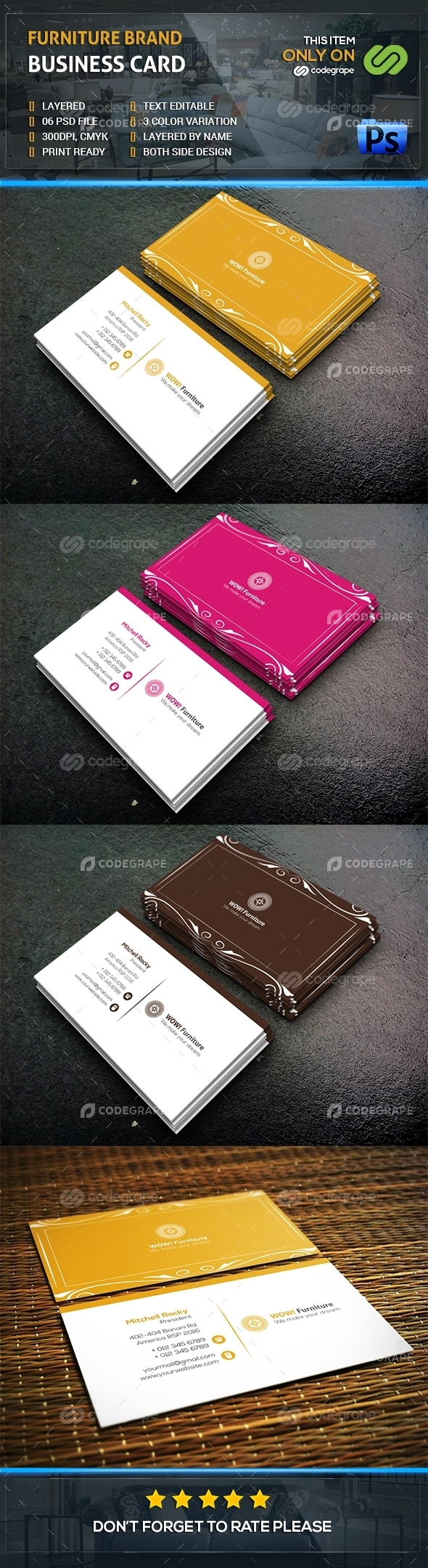 Furniture Brand Business Card