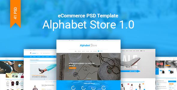 Alphabet Store eCommerce PSD Template