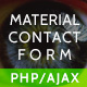 Ultimate Material PHP & AJAX Contact Form