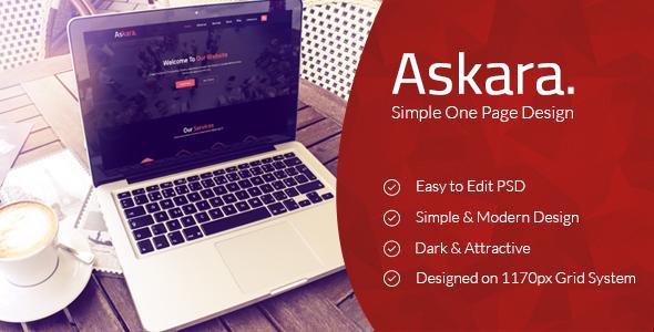 Askara Creative One Page PSD Template