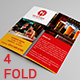 Eat & Gossip Four Fold Brochure / Menu