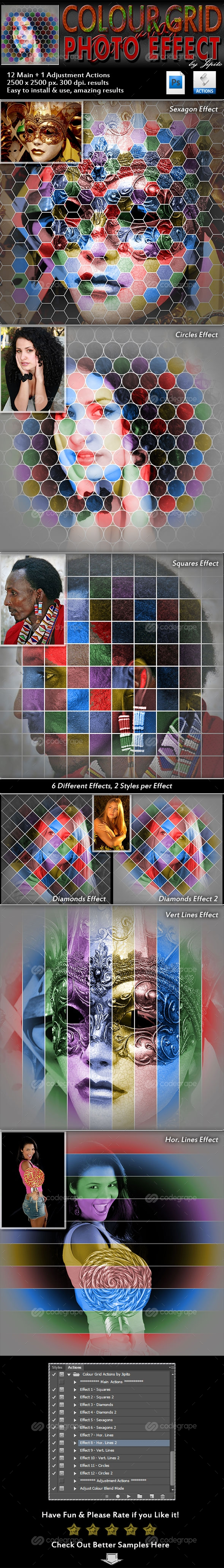 Colour Grid Photo Effect Actions