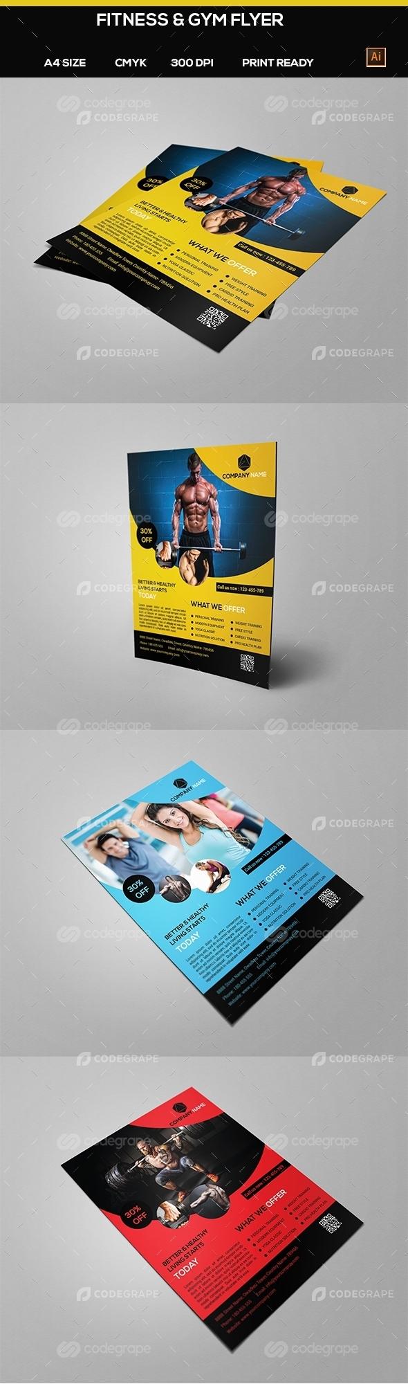 Fitness & Gym flyer