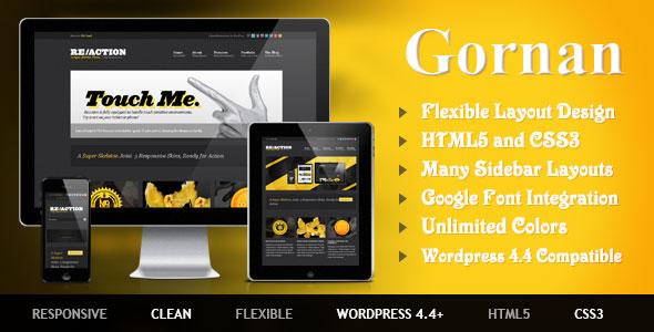 Gornan WordPress News/Magazine Theme