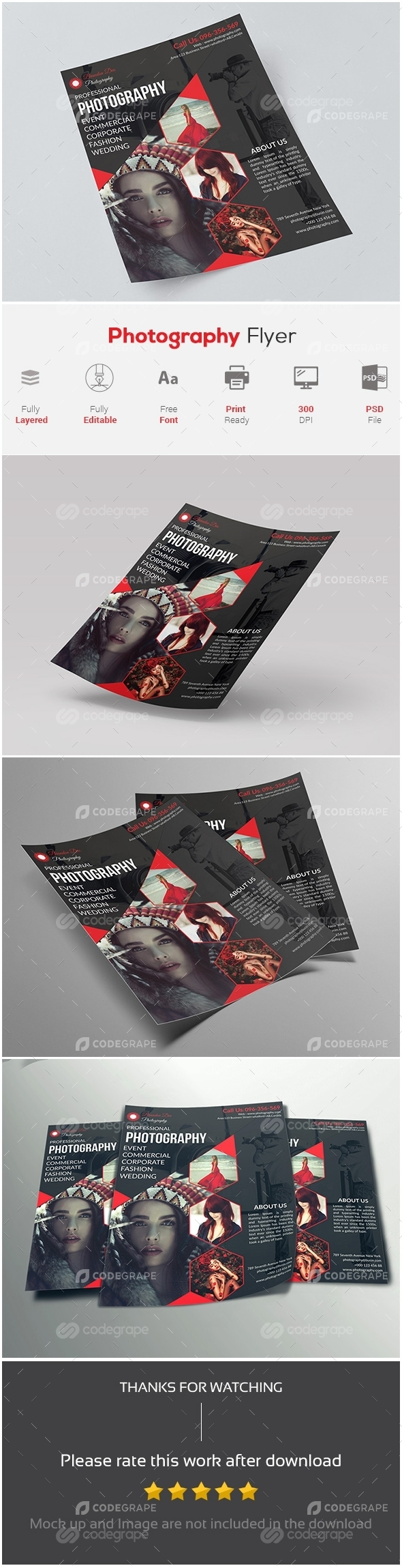 Fashion Photography Flyer Template