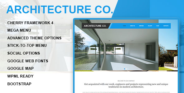 Architecture Company Wordpress Theme