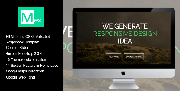 Mex One Page HTML Template