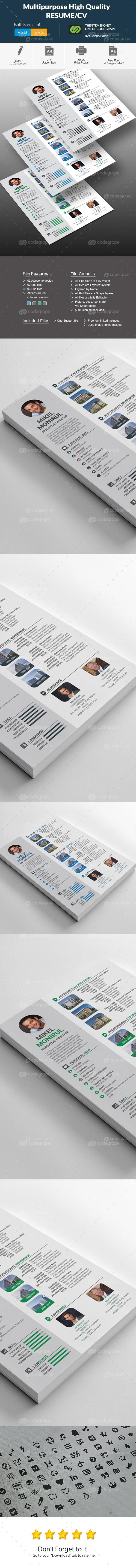 Multipurpose High Quality Resume/Cv