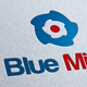 Blue Mind Logo Template