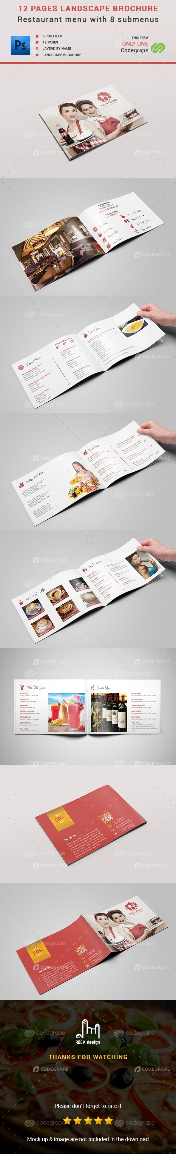 Restaurant Menu - 12 Pages