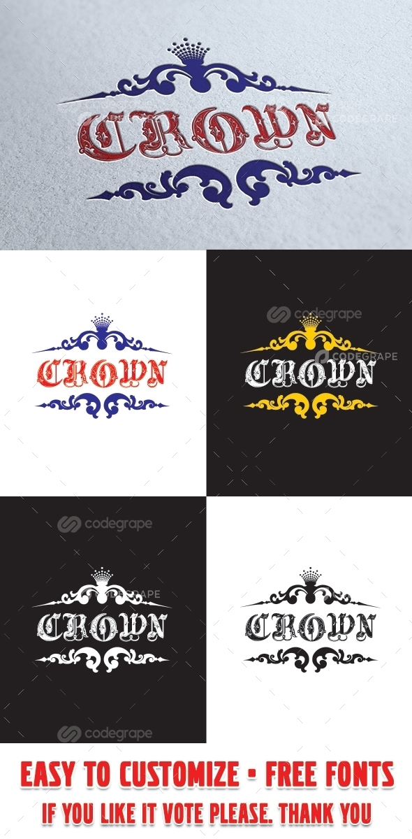 Royal Crown Casino Logo Template