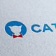 Cat Blue Pets Store Logo Template