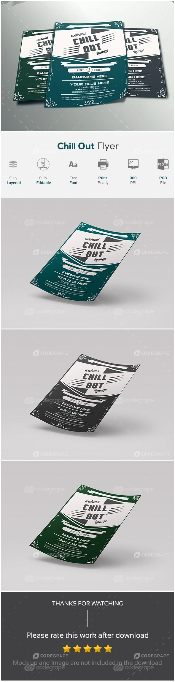 Chill out Flyer Template