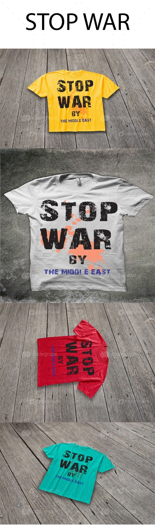 Stop War T-shirt Design
