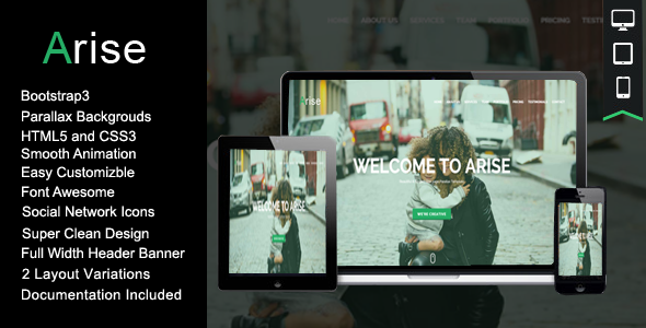 Arise Onepage Responsive HTML Template