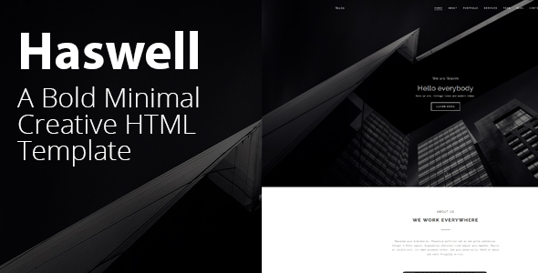 Haswell - Agency & Portfolio HTML, parallax, Template