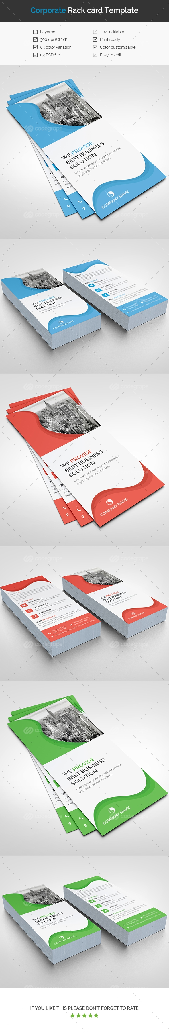 Corporate Rack Card Template