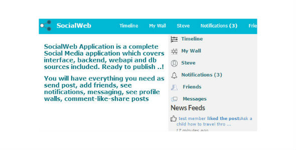 SocialWeb Application