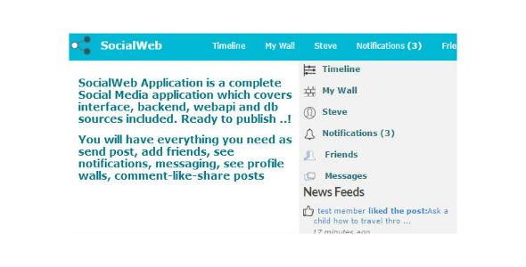 SocialWeb Application
